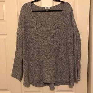 Grey knit old navy vneck sweater XXL